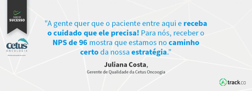 Cetus  Oncologia frase Juliana
